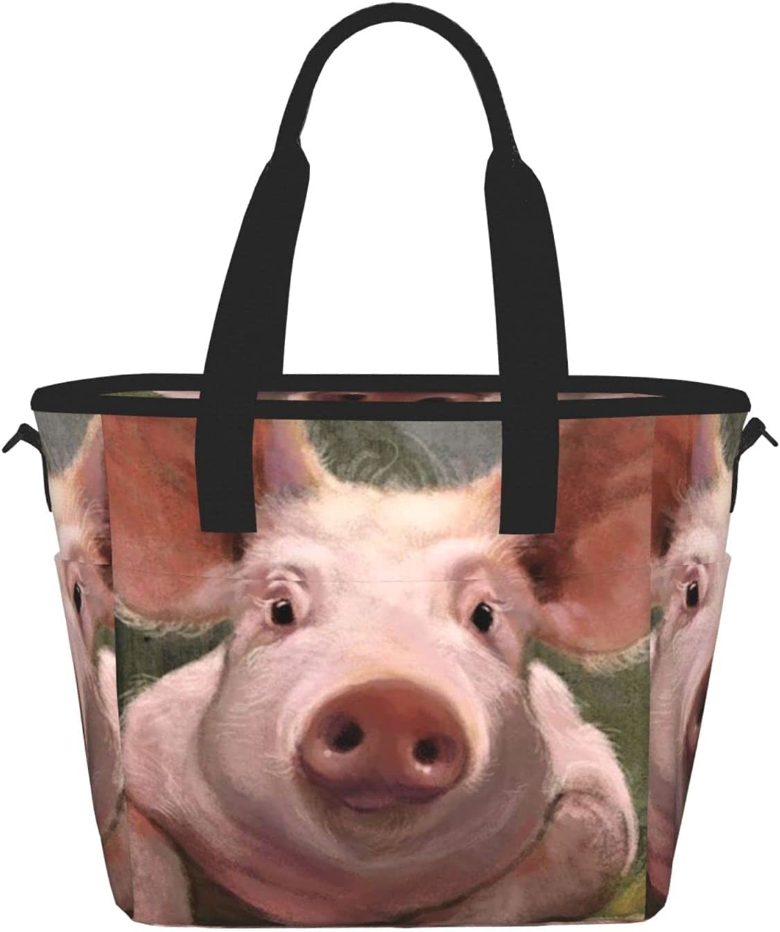 Cute Pigprinting Women'S Lunch Bag Discount mail order Portable Inexpensive Lun Fashion Meal
