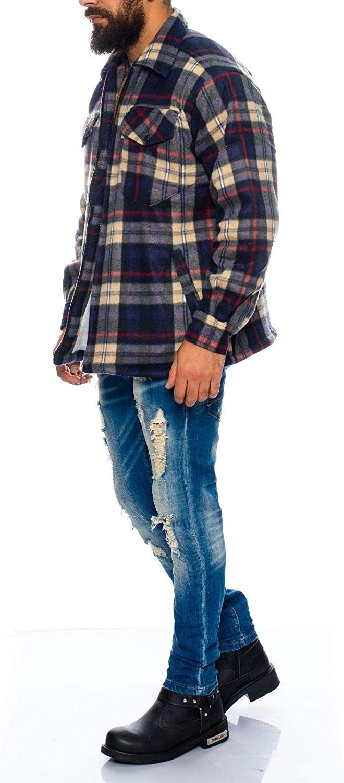 Benk Camisa de trabajo de franela con forro térmico 04