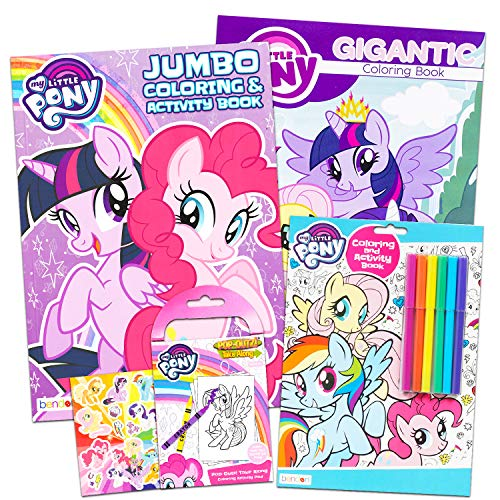 - My Little Pony Coloring Book Super Set With Stickers (4 MLP Books - Over  375 Pages And 75 [...]