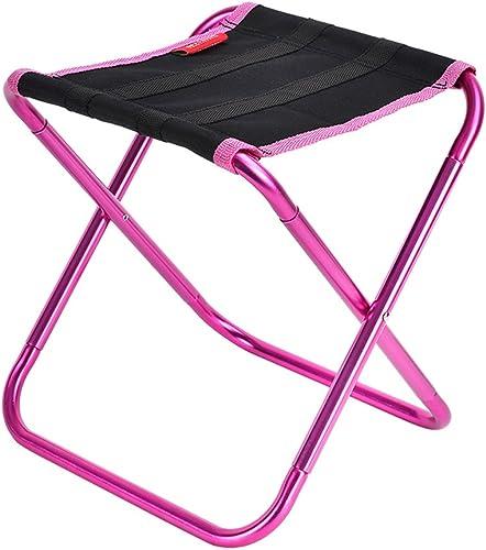 TangHommesgYun Tabouret pliant Chaise de pêche en plein air portable Mini Mazar Tabouret en aluminium ultra léger