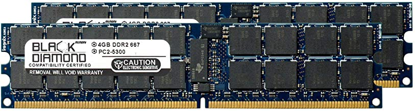 8GB 2X4GB Memory RAM for Sun Fire X4140 Server DDR2 ECC Registered RDIMM 240pin PC2-5300 667MHz Black Diamond Memory Module Upgrade