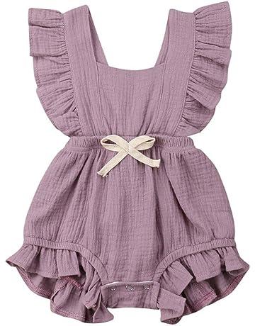 a82791b692556 ベビー服 子供服 ロンパース ソリッドカラーフリル 女の子 可愛い 新生児 歩行服 出産お祝い 記念日