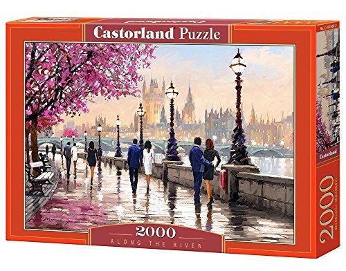 Castorland Along The River 2000 pcs Puzzle - Rompecabezas (Puzzle Rompecabezas, Ciudad, Niños y Adultos, Niño/niña, 9 año(s), Interior)