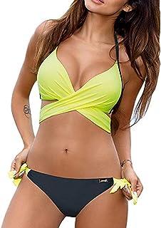 comprar comparacion JFAN Traje De Baño Mujer Sexy Bañador de Baño Conjunto de Bikini Push up Sujetador Acolchado Traje de baño Bikini para Muj...