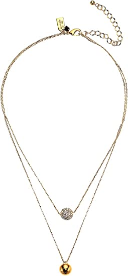 Razzle Dazzle Double Strand Pendant Necklace