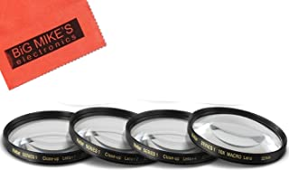 52mm Close-Up Filter Set (+1, 2, 4 and +10 Diopters) Magnificatoin Kit for Canon, Nikon, Olympus, Pentax, Sony, Sigma, Tam...