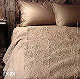 Copriletto butis DELUXE beige Zucchi matrimoniale CM.260X260 - tessuto microfibra imbottitura poliestere gr.120 mq2