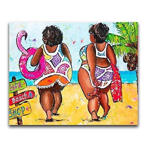 Fat Lady - Kit de pintura de diamante 5D para mujer, para decoración de pared y hogar, 30 x 40 cm