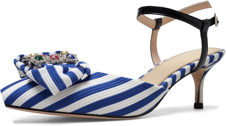 SANDIP MIKEY Brand High Heels Summer Women greenical Stripe Cloth Sandals High Heels Woman Rhitone Dress Party shoes