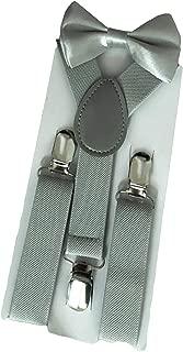Boys Adjustable Y Back Solid Color Suspender & Bow Tie Set for Kid Child