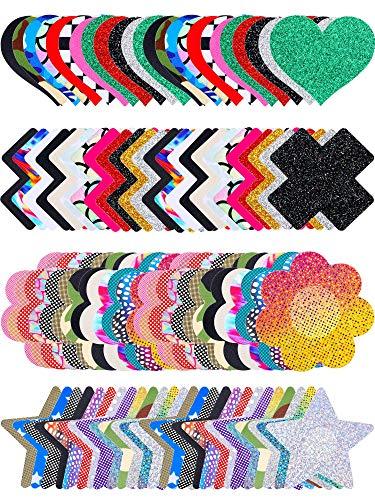 Brustwarzenaufkleber, verschiedene Designs -  -  Einheitsgröße