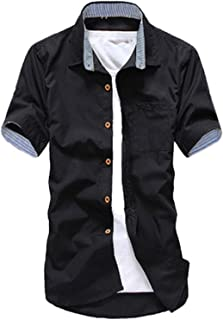 BUZZ WEAR [バズ ウェア] シャツ 半袖/長袖 トップス 無地 コーデ カジュアルシャツ メンズ 春 夏 秋 冬 ワイシャツ