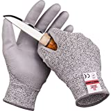 SAFEAT Safety Grip Work Gloves for Men and Women – Protective, Flexible, Cut Resistant, Comfortable PU Coated Palm. Complimentary Ebook Included. Size Medium