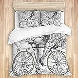 Funda nórdica, Bicicleta, Sexy, indignante, jovencita, Chicle en su Bicicleta...