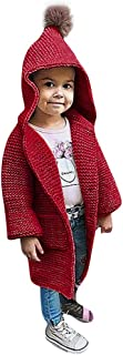 WARMSHOP Boys Girls Outerwear,2018 Stylish Warm Fall Winter Solid Pocket Hooded Knitted Sweater Cardigan Coat Jacket