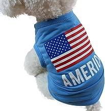 Wakeu Pet Shirt USA Flag Style Small Dog Clothes Pet Puppy Cat Costume Summer Apparel