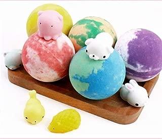 Children's toys cartoon bomb explosion salt bath salt bath ball bath ball decompression toys children's bubble bath ball Natural Quality (Size : 140g*5)