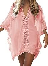 Loritta Womens Short Sleeve Tank Dress Solid Summer Casual Loose Swing T Shirts Dress