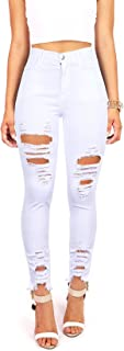 Best white destroyed jeans Reviews