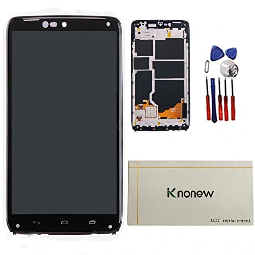 KNONEW for Motorola Droid Turbo XT1254 LCD Display Touch Screen Digitizer Assembly Replacement +Frame Tools