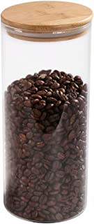 Glass Coffee Bean Container, 52.36 FL OZ (1550 ML), 77L Glass Food Storage Jar with..