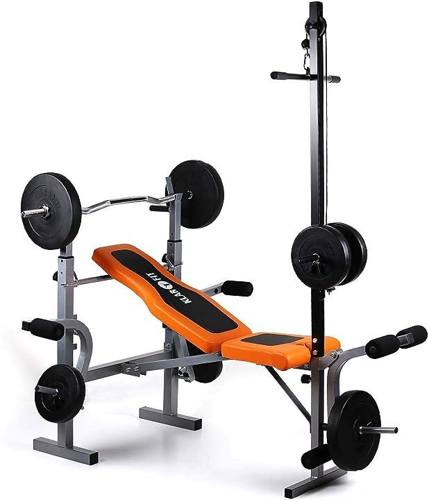 Panca piana multifunzione schienale e sedile imbottiti, regolabile, max 150 kg klar fit ultimate gym 3500 FIT13-2300-tgvs