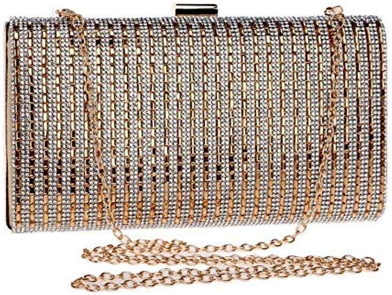 Evening Bag Evening Bag Clutch Purse for Wedding Party Handbag (color   gold)