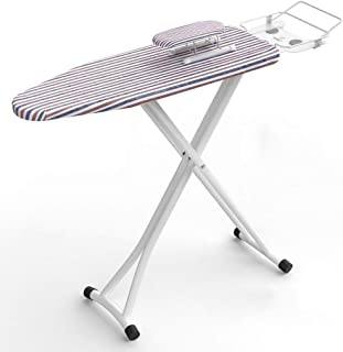 ZB-KK 110 * 31 * 86cm Table à Repasser, école Salle de Lavage Table à Repasser en métal Robuste Fer à Vapeur de Repos, Ray...