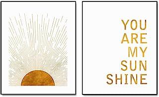 Sun Rise Art, You Are My Sunshine, Kid Room Wall Decor, Boho Sun Wall Art, Minimalist Art, Boho Art Print, Modern Art, Sun...