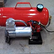 Smittybilt 99210-2 Gloss Red 2.5 Gallon Air Tank with Fittings