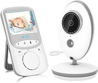 Vigilabebés con Cámara Inalámbrico Monitor para Bebés con LCD 2.4 y Cámara Visión Nocturna Función de Vigilancia de la Temperatura Modo VOX Alcance de 260 metros
