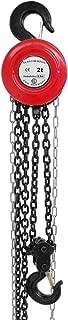 ECD Germany Polipasto industrial de cadena 2000 kg - Polipasto de elevacion 2t - altura de elevación de 2,5 m - Poliplasto de cadena - Incluye 2x ganchos de gran resistencia y 2x cadenas