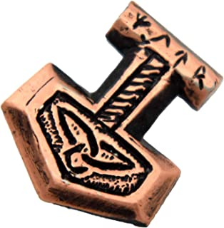 Thor's Hammer Mjölnir Pewter Lapel Pin, Brooch, Jewelry, G020