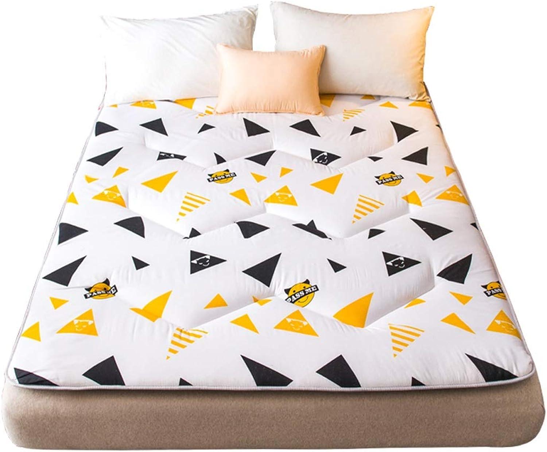 Mattress pad Floor Mat Futon Mattress Topper Portable Sleeping Pad Non-Slip Foldable Cushion Mats (color   A, Size   1.2 × 2 m (4 ft))