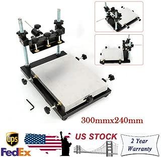 DONNGYZ Manual Solder Paste Printer, PCB SMT Stencil Printer Printing Area 300x240mm Stencil Table Screen High Precision Printing Machine, 0-120mm Adjustable Height
