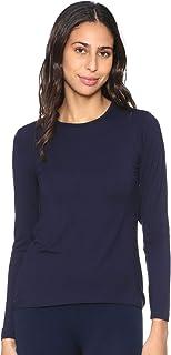 Carina Basic Long Sleeves Round Neck Viscose Undershirt for Women