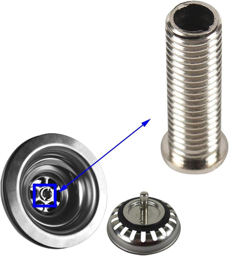 Qrity Tornillo de enchufe de colador de cesta de fregadero de cocina de acero inoxidable de 45 mm para ASIN B06XBSS8QJ, B0725M4MY4, B07DFDLWLK, B07DPPGWBQ, B07R9Y3CVG