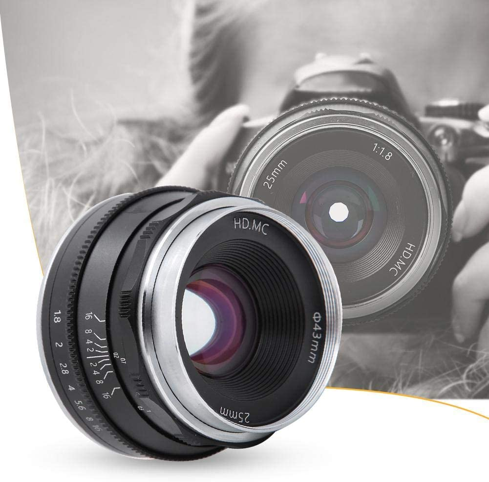 Goshyda 25mm F1.8 Multi-Layer Coating Pure Manual Mirrorless ...