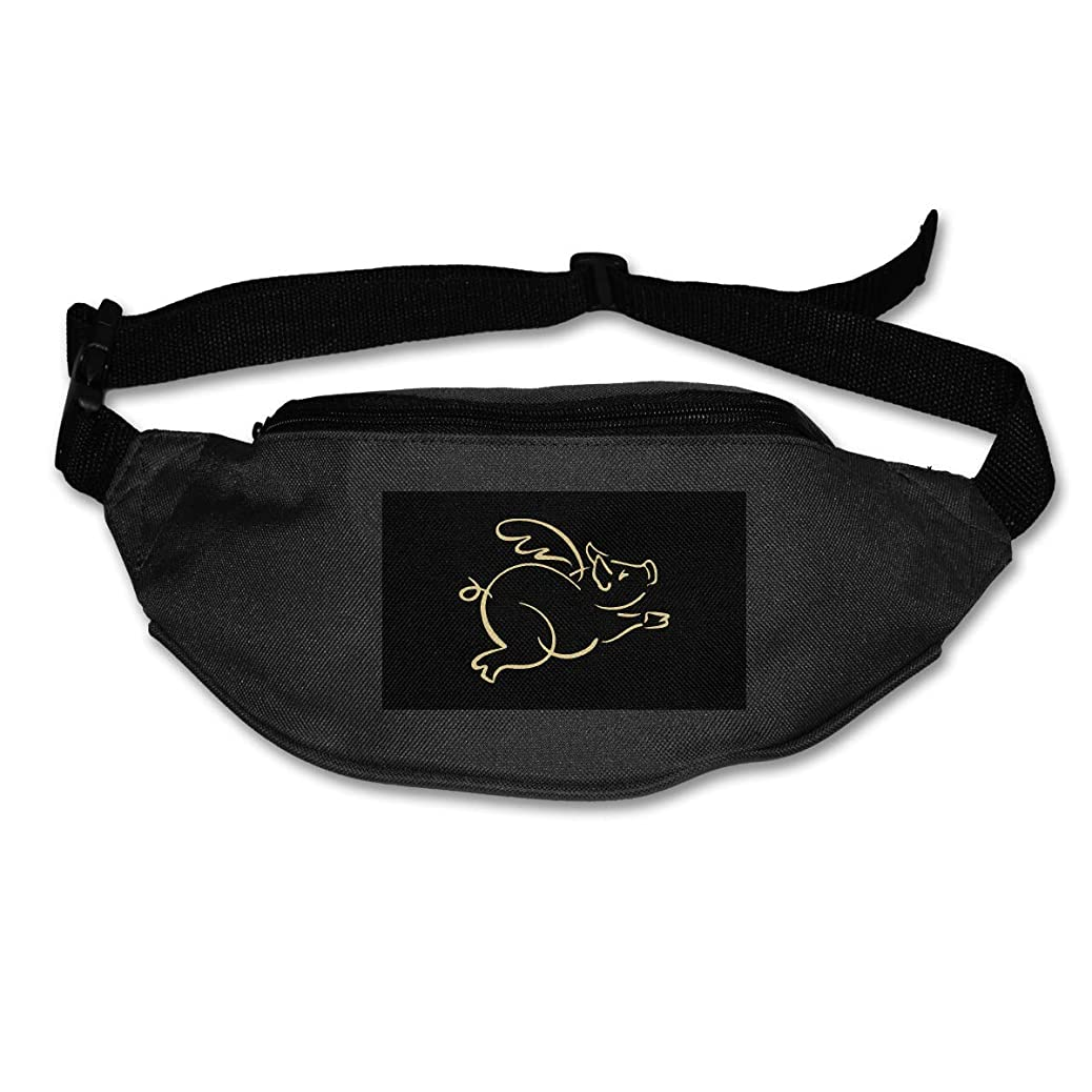 POOP LOOL Flying Pig Running Pouch Belt Running Waist Pack Travel Storage Bag aoypzebqmr