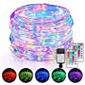 120FT LED Rope Lights Outdoor, 16 Colors Remote Control Fairy String Lights with 360 LEDs, Waterproof RGB Multicolor Rope Tube Light Plug in for Bedroom Patio Christmas Decor