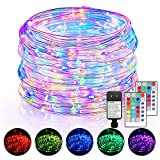 120FT LED Rope Lights Outdoor, 16 Colors Remote Control Fairy String Lights with...