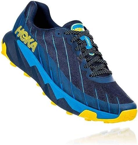 HOKA Torrent Chaussures de Trail pour Homme, Dark bleu - bleu - jaune, 46