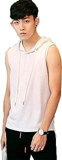 [ベィジャン] メンズ タンクトップ スポーツ パーカー フード付き ノースリーブ トレーニングウェア トップス ゆったり インナー 打底衣 吸汗速乾 上着 夏 大きいサイズ