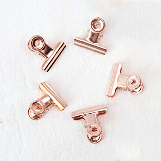 Small Bulldog Paper Clips, Coideal 30 Pack 0.87 Inch Metal Binder Clips File Paper Money Clamps for Tags Bags, Shops, Offi...