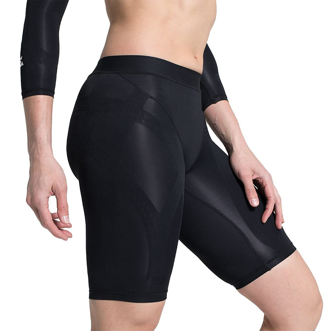 Enerskin E75 Women's FDA Approved Graduated Medical Grade mmHg Compression Shorts with Kinesiology Muscle Mapping