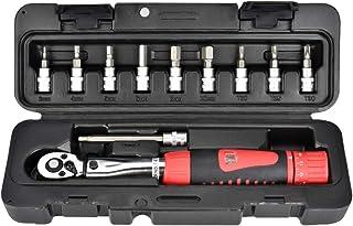 Llave dinamométrica para bicicleta y motocicleta, 1/4 pulgadas, juego de 2 – 24 Nm, herramienta de reparación, adaptador de par de torsión, Rojo