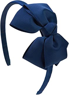 Shemay Fashion Solid Grosgrain Ribbon Hair Bows and Headbands for Toddlers Girls Kids