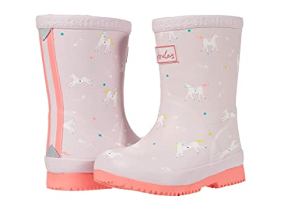 Joules Kids Welly Print (Toddler) (Pink Unicorns) Girl
