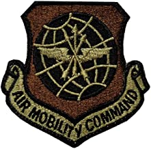 US Air Force Air Mobility Command OCP Spice Brown Patch with Hook Fastener