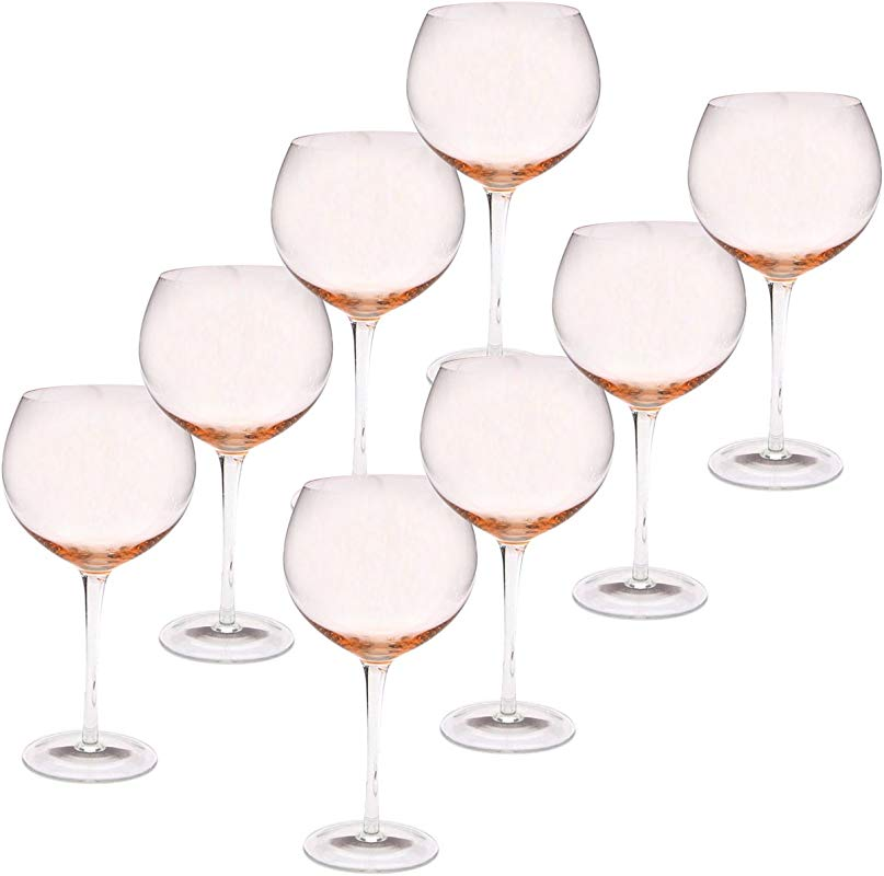 Certified International Red Wine Stemware Glass Set Of 8 28 Oz Pink